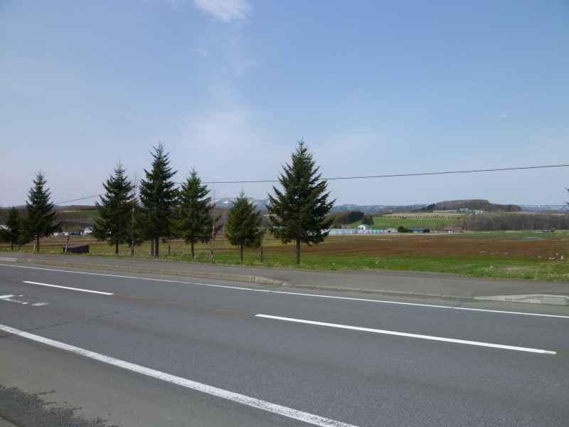 国道から見た土地