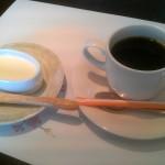 食後の珈琲とデザート